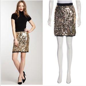 D&G Dolce & Gabbana gold sequin skirt IT 36 US 0